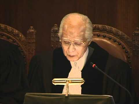 2011Jul18 The President of ICJ Hisashi Owada Japan Reading The Order On Provisional Measures In English