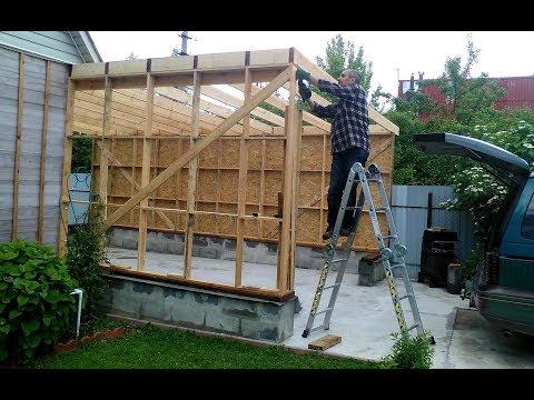Пристроить гараж к дому фото своими руками