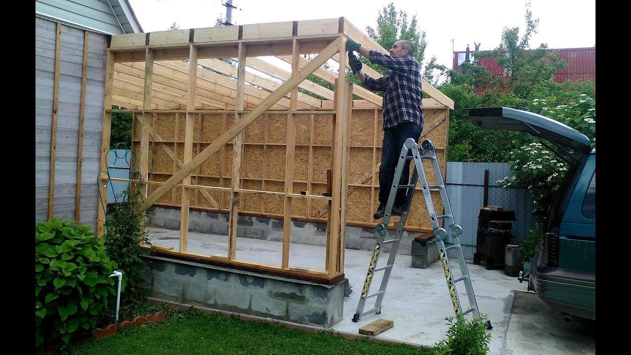 Как пристроить гараж к деревянному дому своими руками фото фото 602