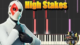 🎵 High Stakes - Fortnite [Piano Tutorial] (Synthesia) HD Cover