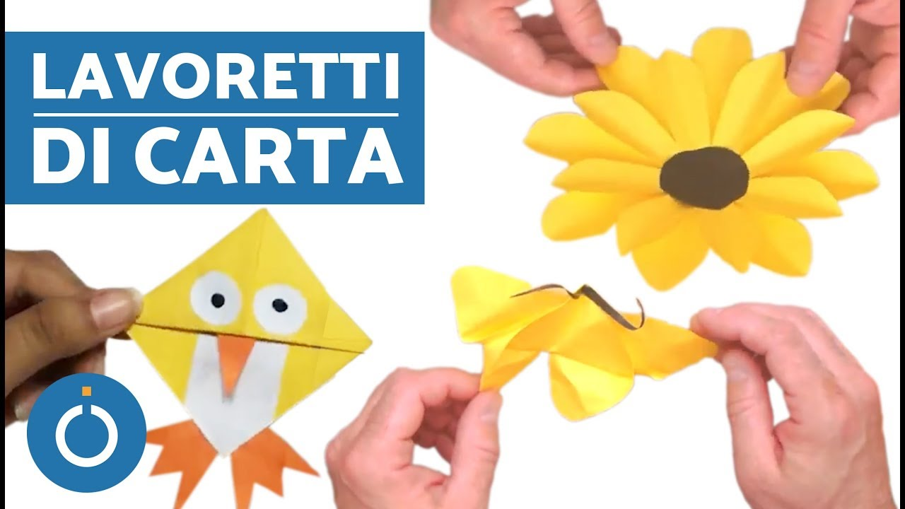 Cose Creative Con La Carta lavoretti di carta fai da te - lavoretti con la carta facili per bambini