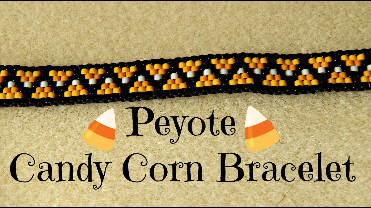 Odd Count Peyote Candy Corn Bead Weaving Bracelet Tutorial The Corner Of Craft You