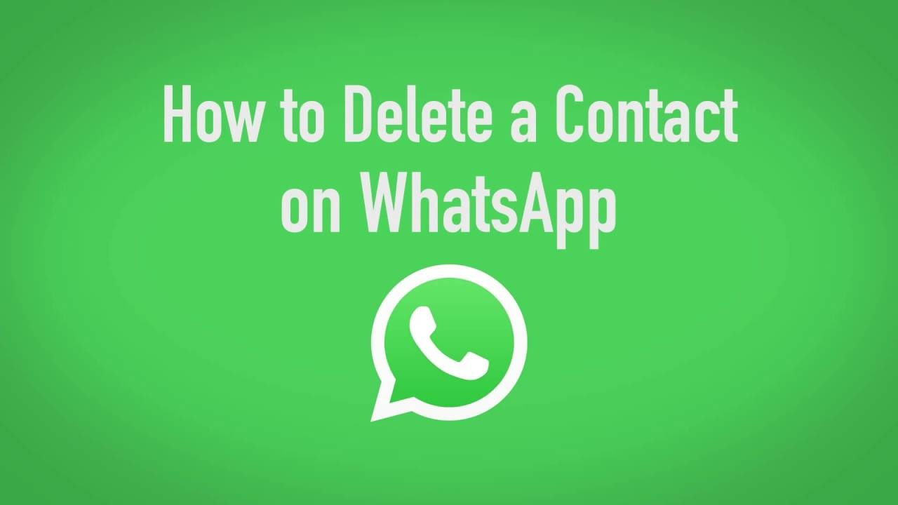 How to Delete a Contact on Whats App
