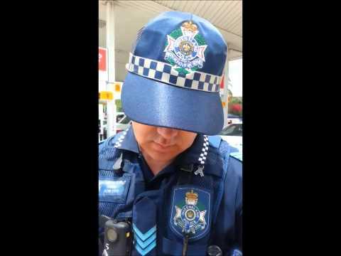 Queensland Police Harrassment - biker pulled over - Beenleigh Servo