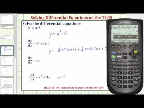 Solve First Order Differential Equations On The Ti