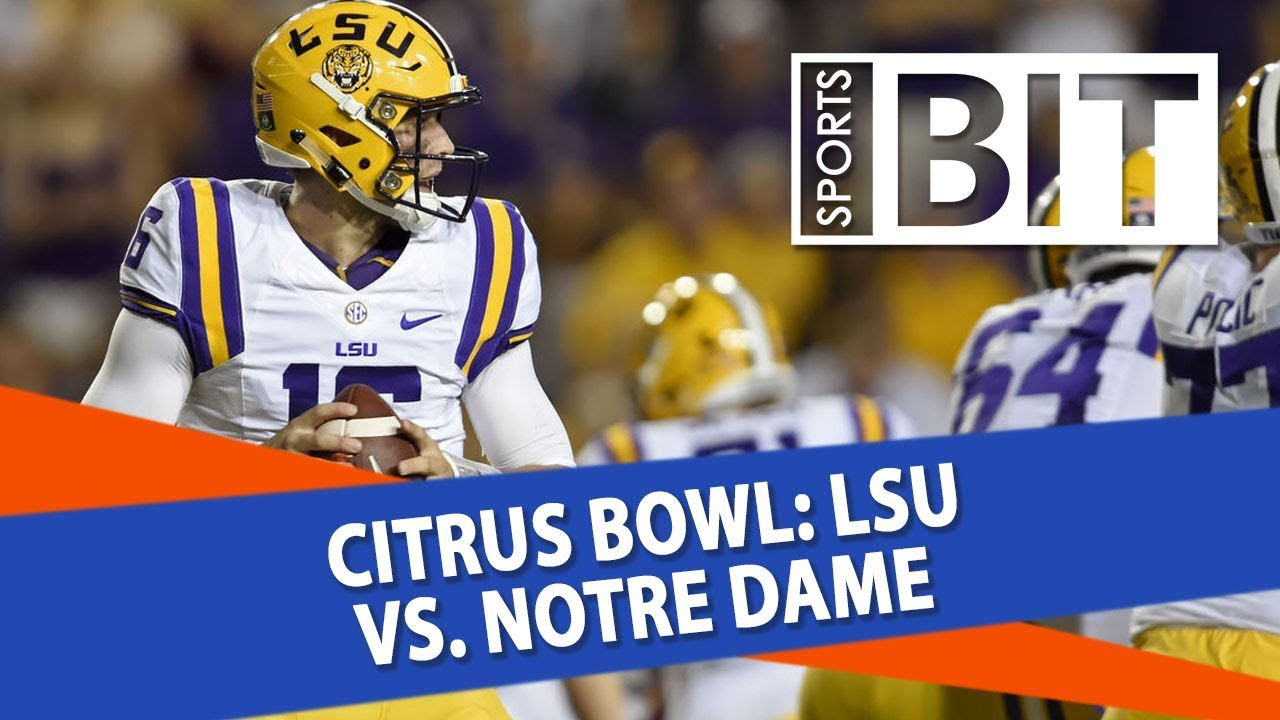 Image result for Notre Dame vs LSU live pic logo