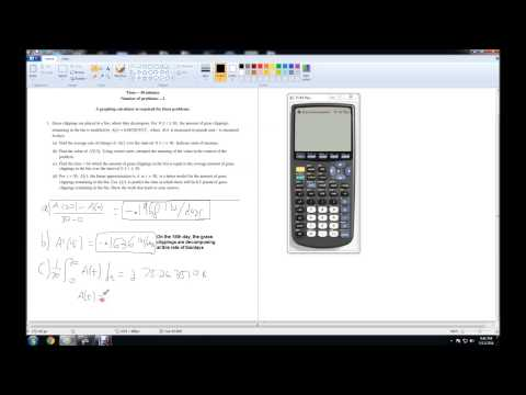 2014 AP Calculus AB Free-Response Question 1 Solution 1080p HD