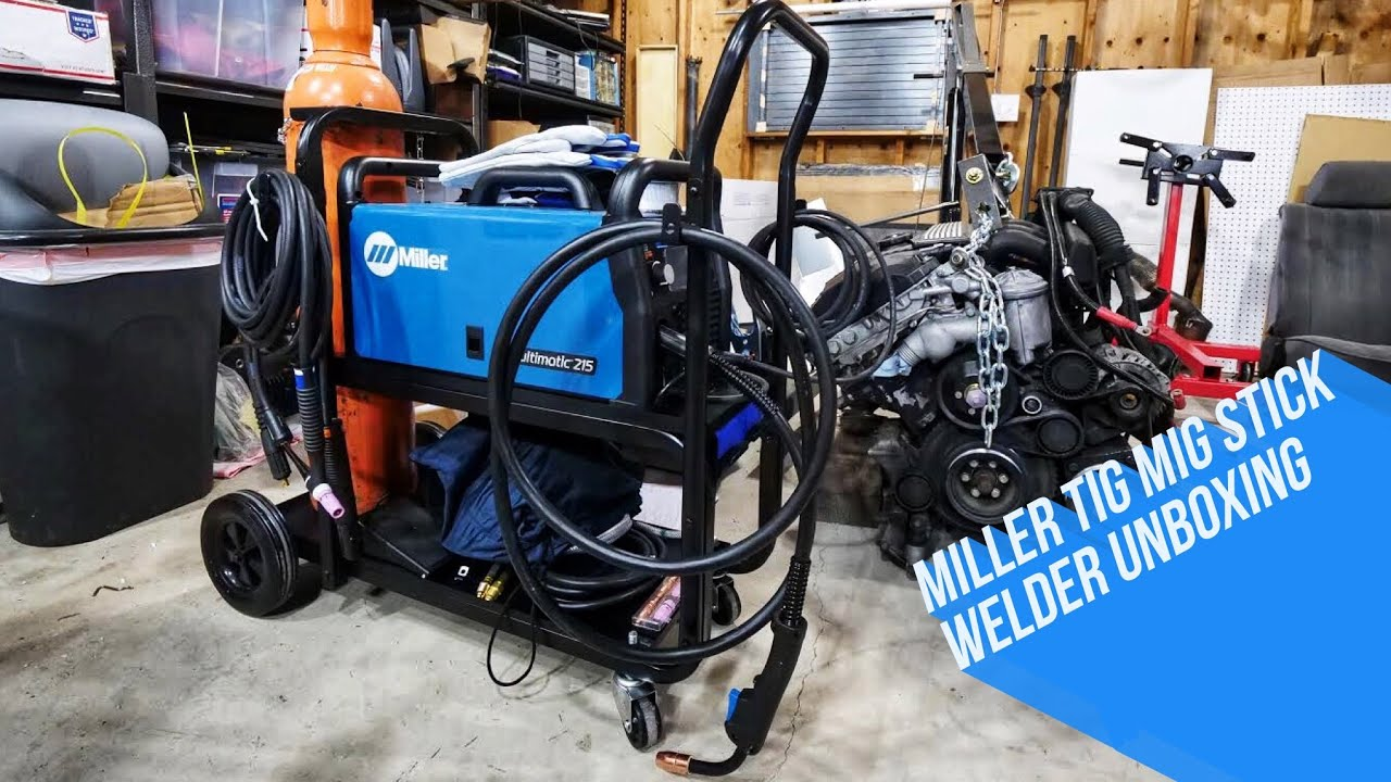 Miller Multimatic 215 >> Miller Electric Multimatic 215 Mig Tig Stick Unboxing Youtube