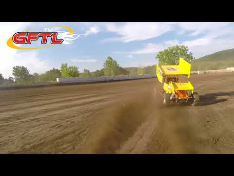 Dustin Purdy @ Five Mile Point Speedway - CRSA Sprint Cars Heat Race - 7/25/15