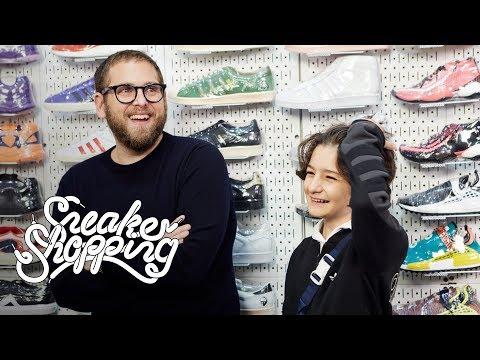 Jonah Hill i Sunny Suljic w Complex Sneaker Shopping