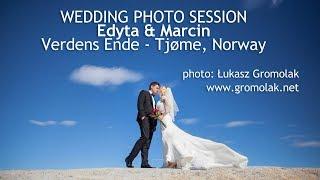 Sesja ślubna na Verdens Ende / Bryllupsfotografering Verdens Ende - Norge / wedding photos Norway
