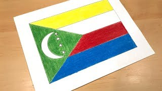 Comoran Flag Drawing 🇰🇲