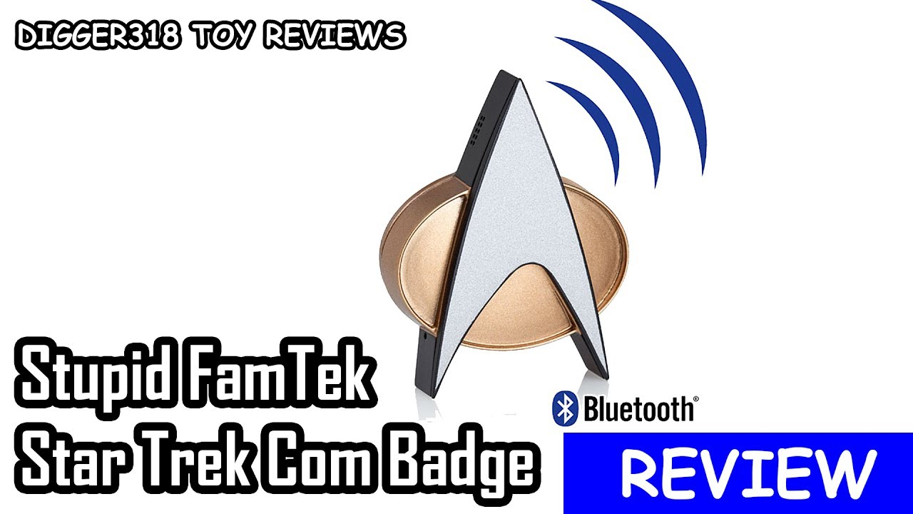 5115832529d569 Star Trek The Next Generation Bluetooth Communicator Badge ComBadge Review