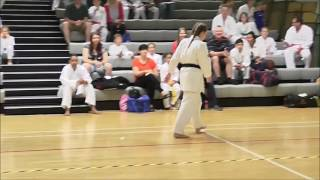 GKR Karate Female Black Belt Junior Open - Alex Duncan Shisochin Kata