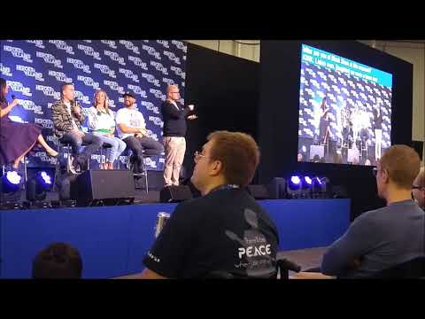 Arrow Villains Panel Cassidy, Segarra, Acevedo at the Heroes & Villains  Fest London 2018 hvff