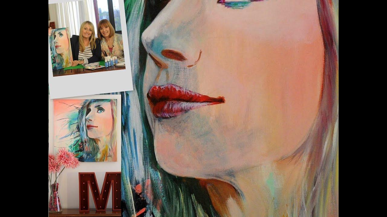Pintar un retrato a partir de una fotografia pintar en - Unas modelos para pintar ...