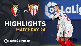 Highlights CA Osasuna vs Sevilla FC (0-2)