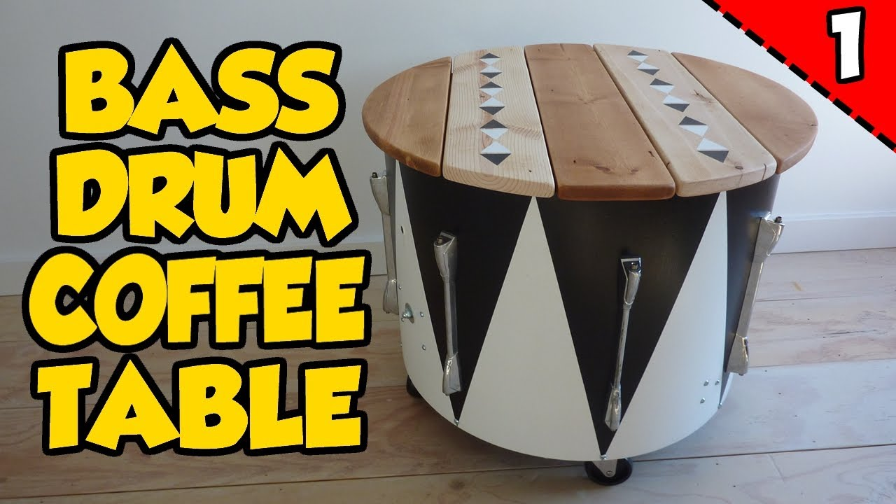 How To Make A BASS DRUM COFFEE TABLE Part Of YouTube - Bass coffee table