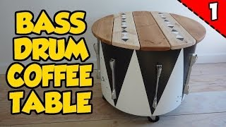 How To Make A Bass Drum Coffee Table - Part 1 Of 2
