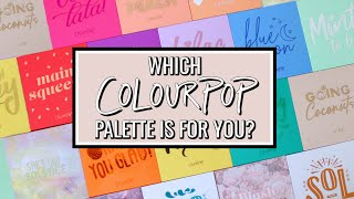 COLOURPOP PALETTE COLLECTION 2020! 17 DIFFERENT REVIEWS \u0026 SWATCHES