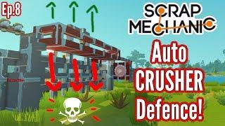 Prototype Auto Crusher - Crushin' Bots! | Scrap Mechanic Survival Mode | Ep 8