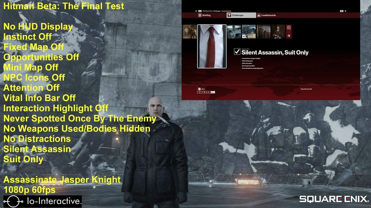 Hitman Beta The Final Test Silent Assassin Suit Only No