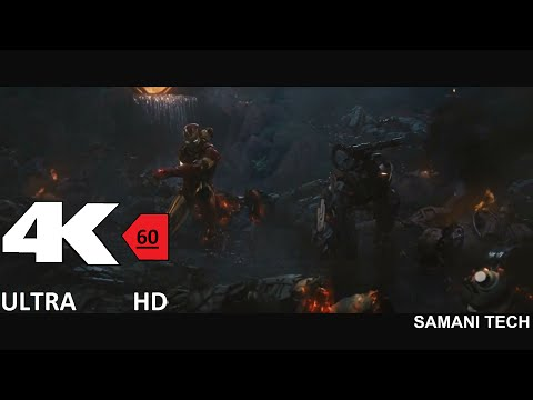 [4k][60FPS] Iron Man and War Machine vs  Hammer Drones 4K 60FPS HFR[UHD] ULTRA HD thumbnail