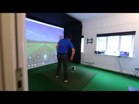 The Hampshire Golf Clubs SkyTrak Installation.