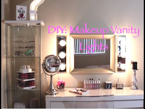 Diy hollywood vanity lights youtube diy hollywood vanity lights aloadofball Choice Image