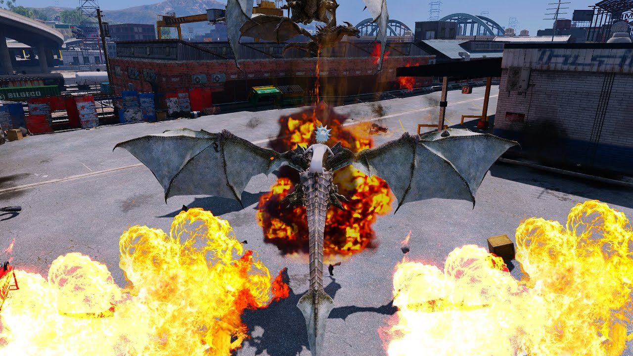 Download Gta 5 How To Train Your Dragon Mod ( Large Dragon