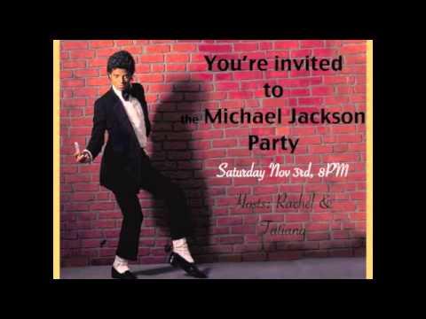 Michael Jackson Party Invitation