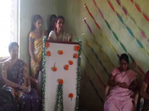 send off speech delivered by khandage madam from shaha chandulal  college,kinhavali