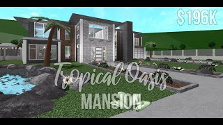 Bloxburg: Tropical Oasis Mansion 196K | Roblox Bloxburg [SPEEDBUILD]