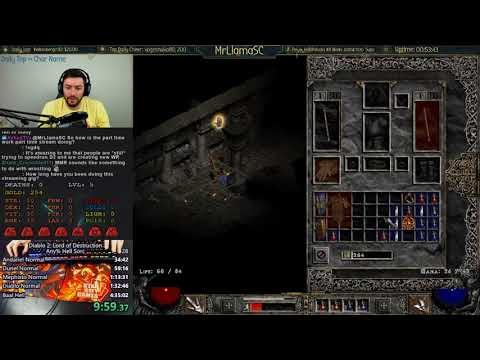 Diablo 2 - Hell Sorceress WR Attempt - GG ENDING LUL