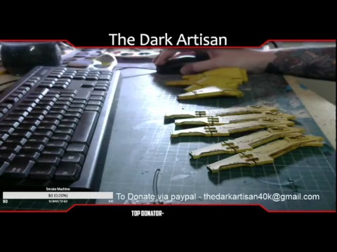 The Dark Artisan Live Stream Warhammer 40k build and paint sessions officially #2