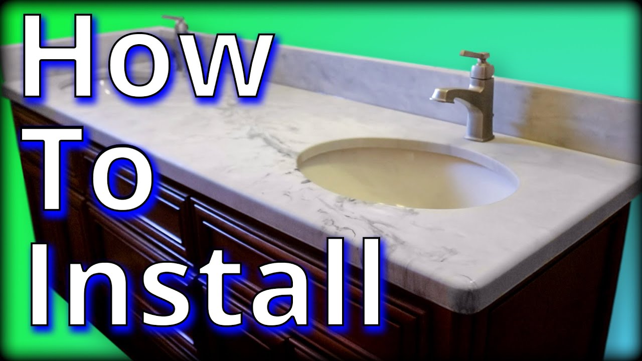 How to Install a Vanity Top On-Site | Stone Coat Countertops