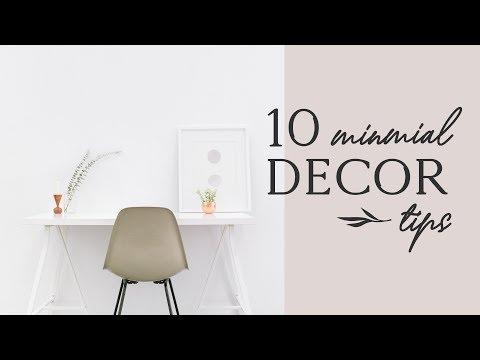 10 MINIMALIST HOME DECOR TIPS ✨