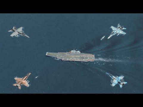 DCS: 4 máy bay FA-18 có hạ được tàu sân bay Nga Kuznetsov?
