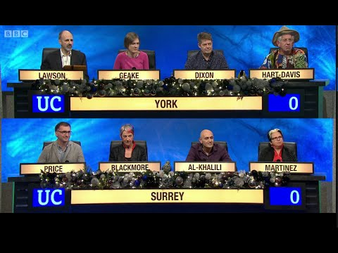University Challenge - Christmas 2014 E06 University of York vs University of Surrey
