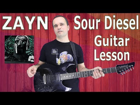 ZAYN, Sour Diesel, Guitar Lesson, Chords, Tutorial, Solo, How to play Easy