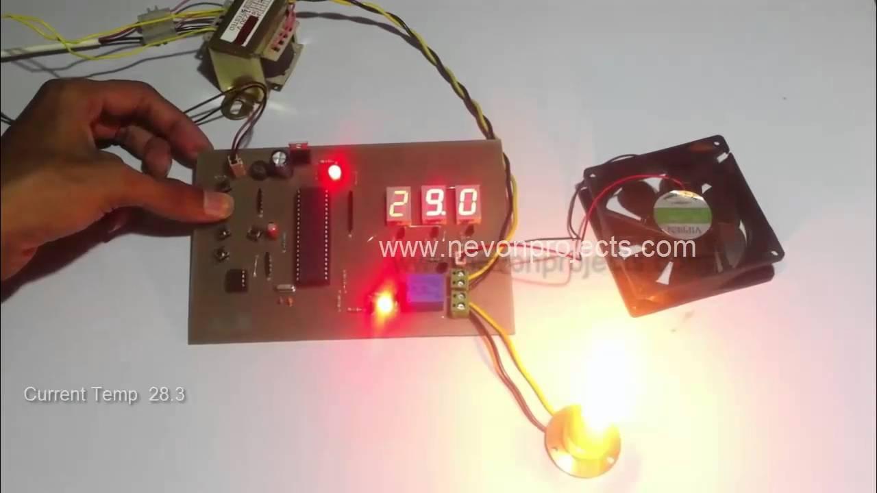 Auto Room Temperature Controller Using PIC