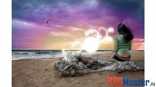 Обработка и световые эффекты на фотографии в фотошоп