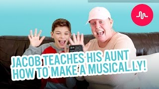 Jacob teaches his Aunt how to make a musical.ly!