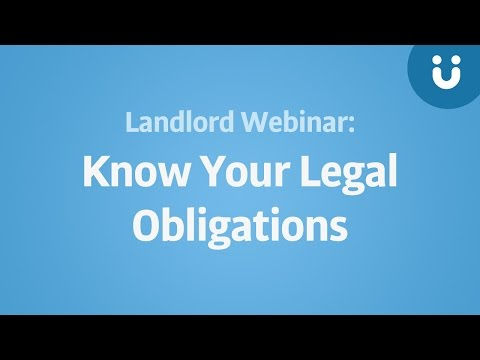 Landlord Webinar: The New Tenancy Checklist  Know Your Legal Obligations