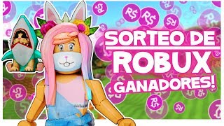 ROBUX Sweepstakes Winners Roblox in Spanish samymoro