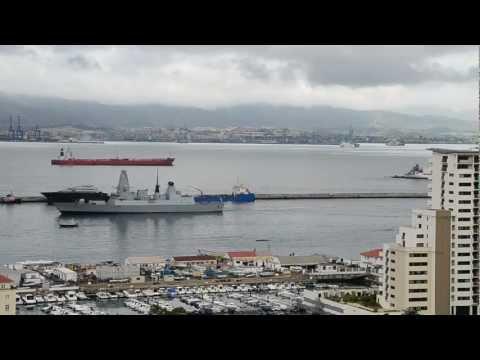 HMS Diamond arrives at Gibraltar -16 Dec 2012