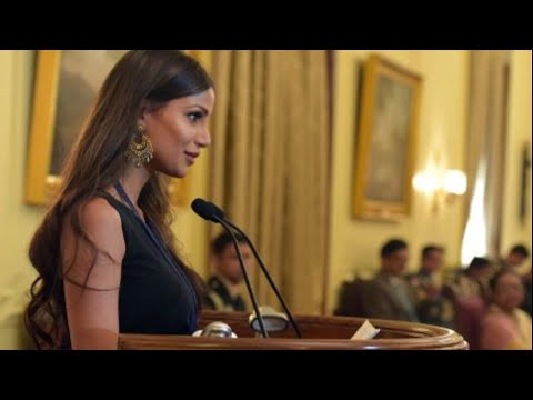 Nicole Faria honored with the women's achiever award by the President of India