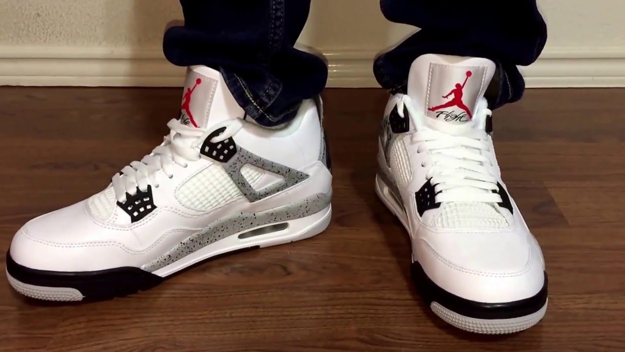 a81757d17e6123 Nike Air Jordan Retro 4 89 OG Cement unbox and on feet review - YouTube