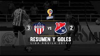 Junior vs Medellín resumen y goles del partido 3-2 Liga Águila 2019-I