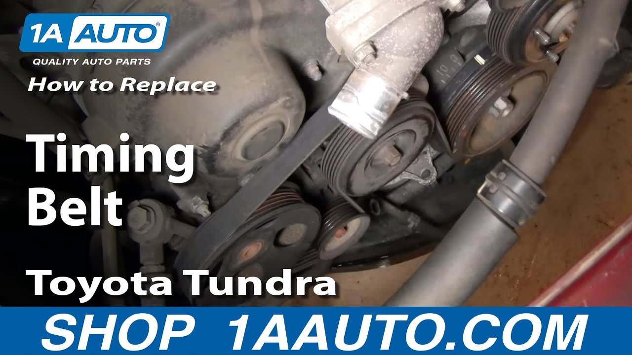 Toyota Tundra Engine Diagram Dual Light Switch Wiring How To Replace Timing Belt 2002 V8 Disassemble Front Of Part 2 1aauto.com ...